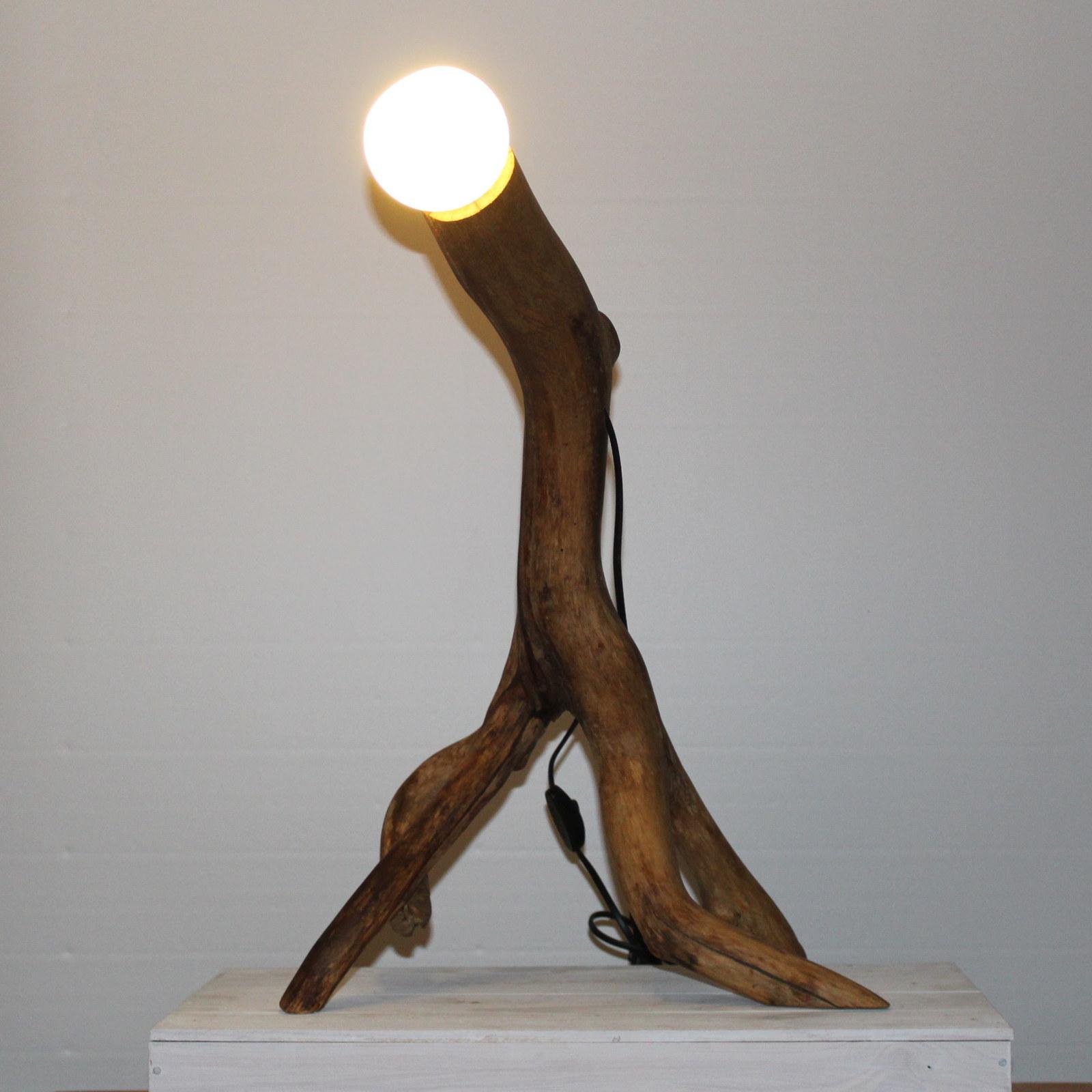 Skurile Holzdekoration mit Lampe.
