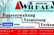 Printanzeige von Wilharm Immobiliengesellschaft und Grundstücksverwaltungen mbH in Celle