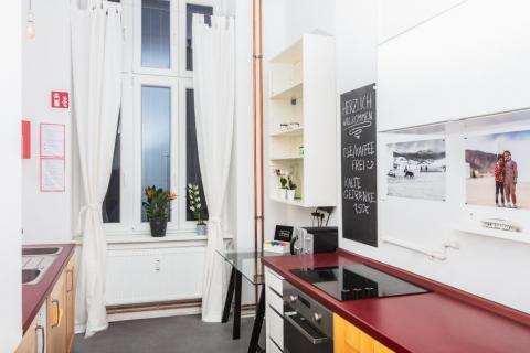Die Küche im Fotomietstudio ist voll ausgestattet