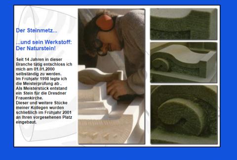 Steinmetz und Bildhauermeister Eike Rohleder nahe Bensheim in Lindenfels