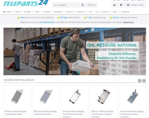 Teleparts 24: Iphone-Displays und Mobilfunkzubehör bequem online kaufen in Frankfurt