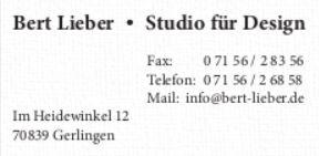 Möbelherstellung Tische und Stühle - Ihr Designer Bert Lieber in Gerlingen