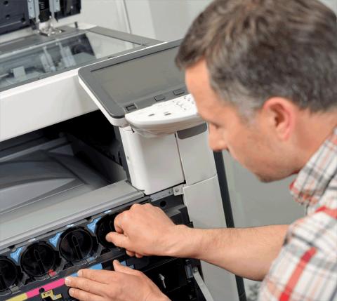 Installation des Druckers durch den Profi.