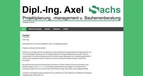 Planungsbüro Dipl.-Ing. Axel Sachs in Schwalmstadt in Schwalmstadt