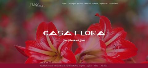 Blumen online bestellen nach dem Fleurop-Prinzip: CasaFlora in Hürth