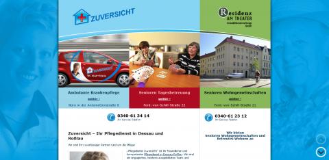 Die häusliche Pflege Ihres Vertrauens: Ambulante Krankenpflege ZUVERSICHT in Dessau