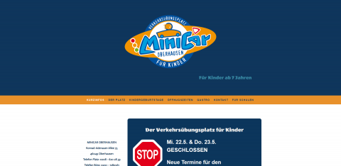 Lustige Kindergeburtstage auf dem Verkehrsübungsplatz: MiniCar Oberhausen in Oberhausen
