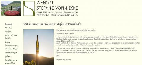Weingut Stefanie Vornhecke - Getränkehandel in Senheim in Senheim