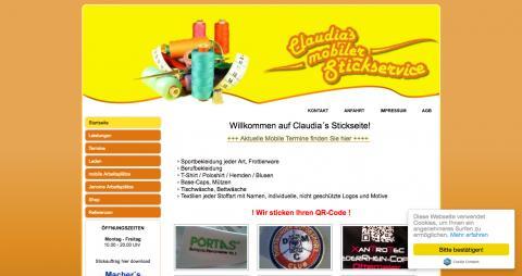 Claudias mobiler Stickservice - Textil in Essen in Essen