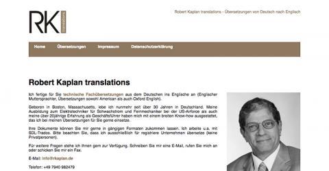 Robert Kaplan - Übersetzungen Deutsch - Technisches Englisch in Künzelsau