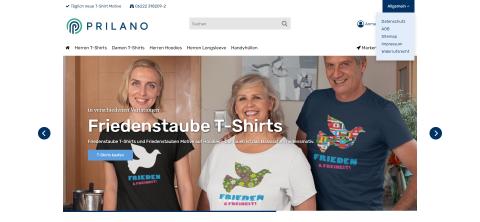 Hochwertige Damen und Herren T-Shirts mit Druck: Prilano Shirtshop in Wiesloch