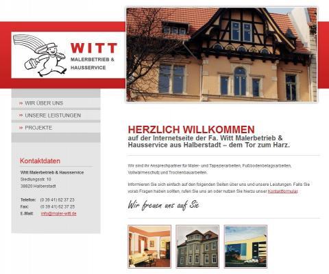 Witt Malerbetrieb und Hausservice in Halberstadt in Halberstadt