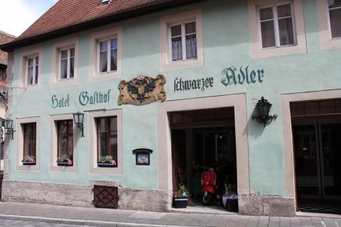 Gute bürgerliche Küche: Hotel Schwarzer Adler in Rothenburg ob der Tauber in Rothenburg ob der Tauber