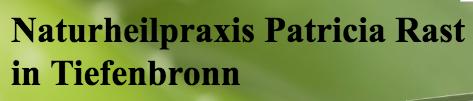 Ganzheitliche Schmerztherapie in der Naturheilpraxis Patricia Rast in Tiefenbronn in Tiefenbronn