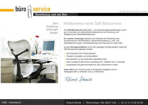 Firmenprofil von: Roland Schmid, SdR Büroservice in Ulm: Gesparte Zeit gewinnbringend nutzen und Personalkosten reduzieren