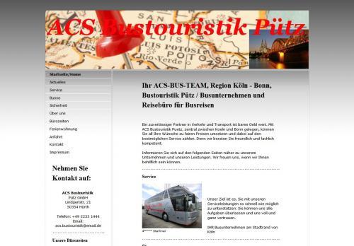 Firmenprofil von: ACS Bustouristik Pütz GmbH in Hürth