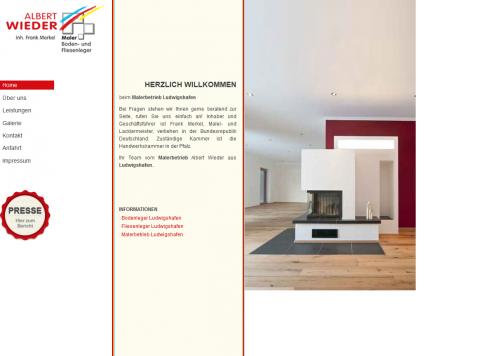 Firmenprofil von: Albert Wieder Malerbetrieb in Ludwigshafen