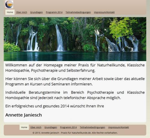 Firmenprofil von: Heilpraktikerin Annette Janiesch in Oer-Erkenschwick