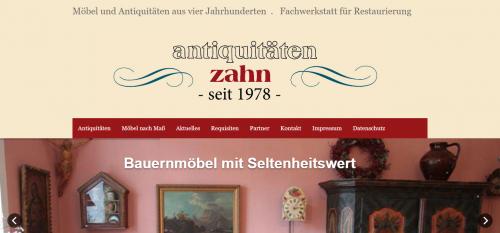 Firmenprofil von: Möbel aus vier Jahrhunderten: Antiquitäten Zahn in Aying