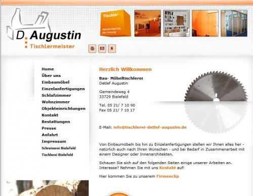 Firmenprofil von: Tischlerei Augustin – Möbelanfertigung in Bielefeld