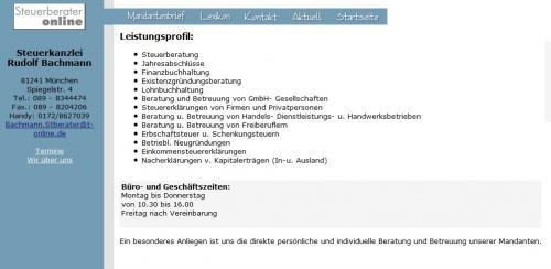 Firmenprofil von: Steuerkanzlei Rudolf Bachmann in München