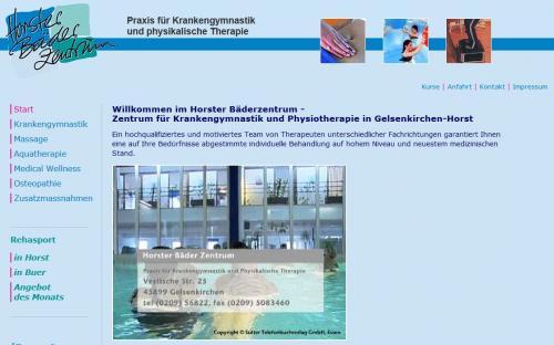 Firmenprofil von: Praxis für Krankengymnastik und physikalische Therapie – Horster Bäder Zentrum in Gelsenkirchen
