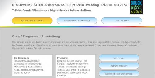 Firmenprofil von: Druckwerkstätten Osloer Straße GmbH in Berlin