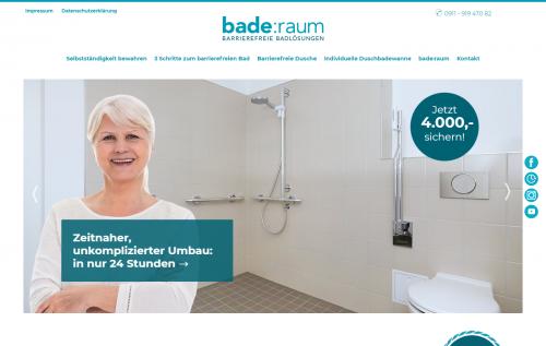 Firmenprofil von: Barrierefrei duschen: Badlösungen von bade:raum