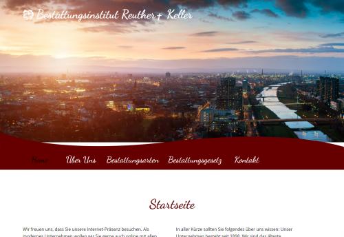 Firmenprofil von: Würdevoller Bestatter in Ludwigshafen: Bestattungsinstitut Reuther-Keller GmbH