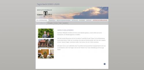 Firmenprofil von: Ihre Ansprechpartner für Bestattungsvorsorge in Oranienburg: Bestattungshaus Günter Tolg