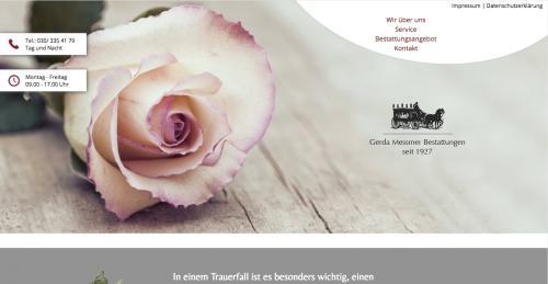 Firmenprofil von: Erfahrener Bestatter in Berlin: Gerda Messmer Bestattungen