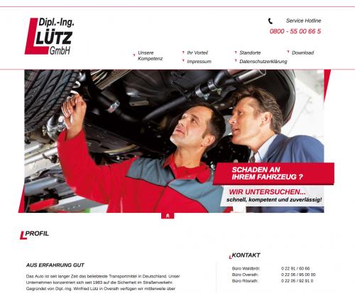 Firmenprofil von: Dipl.-Ing. Lütz GmbH: Kfz-Sachverständige in Rösrath