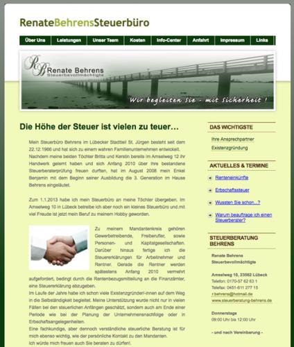 Firmenprofil von: Steuerbüro Behrens in Lübeck