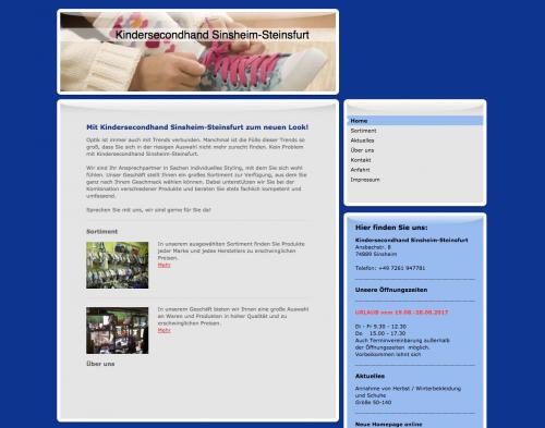 Firmenprofil von: Kindersecondhand Sinsheim-Steinfurt in Sinsheim