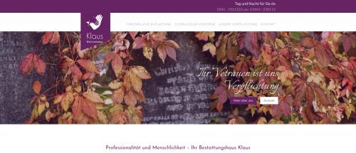 Firmenprofil von: Bestattungshaus Klaus in Weißenfels: Vertrauensvoll und entlastend