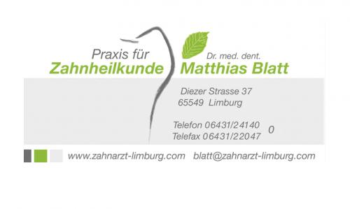 Firmenprofil von: Zahnarztpraxis Dr. med. dent. Matthias Blatt in Limburg
