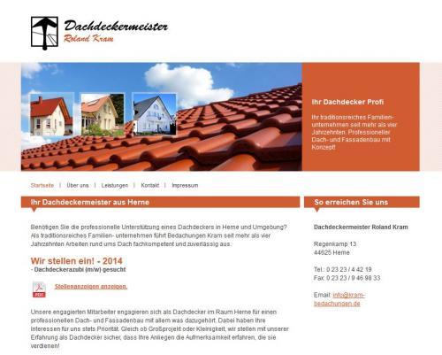 Firmenprofil von: Dachdeckermeister Roland Kram in Herne