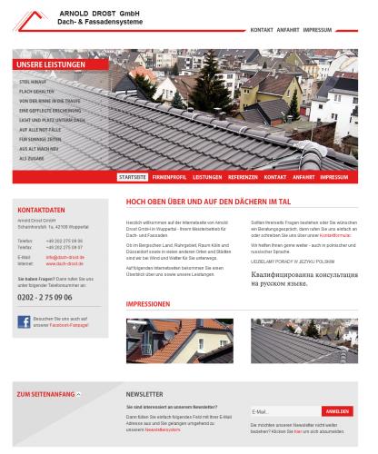 Firmenprofil von: Dachdecker Arnold Drost GmbH in Wuppertal