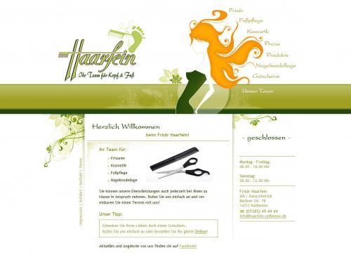Firmenprofil von: Friseursalon Haarfein in Rathenow