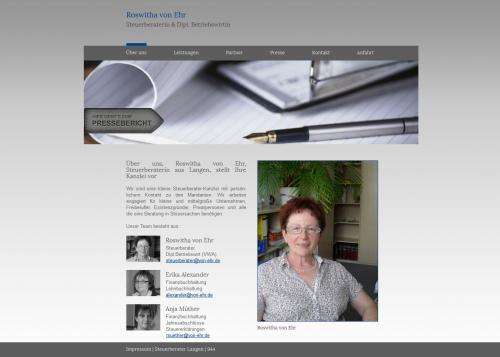 Firmenprofil von: Steuerberatung Roswitha von Ehr in Langen