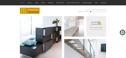 Firmenprofil von: Hochwertige Einbauschränke und Möbel nach Maß: Schreinerei Gilching GmbH