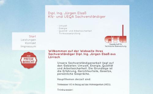 Firmenprofil von: Dipl.-Ing. Jürgen Elsaß – Wasserberatung in Lörrach