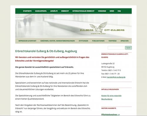 Firmenprofil von: Erbrechtskanzlei Eulberg und Ott-Eulberg in Augsburg