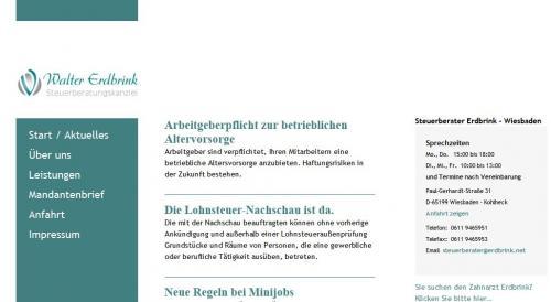 Firmenprofil von: Steuerberater Walter Erdbrink in Wiesbaden