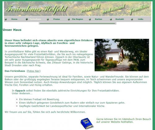 Firmenprofil von: Ferienwohnung Holfeld in Oppach in der Oberlausitz
