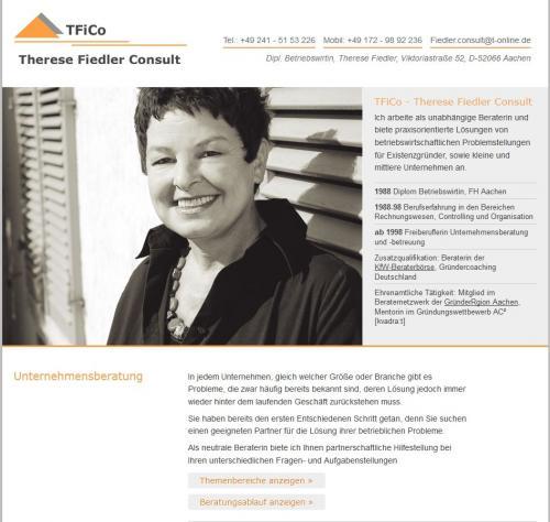 Firmenprofil von: Unternehmensberatung: TFiCo - Therese Fiedler Consult in Aachen