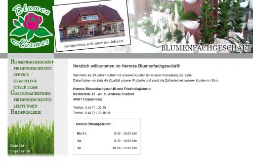 Firmenprofil von: Blumen Hermes in Cloppenburg – Blumenfachgeschäft und Friedhofsgärtnerei