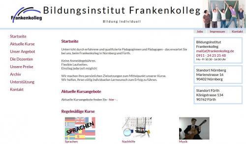 Firmenprofil von: Sprach- und Nachhilfeunterricht am Frankenkolleg in Nürnberg und Fürth