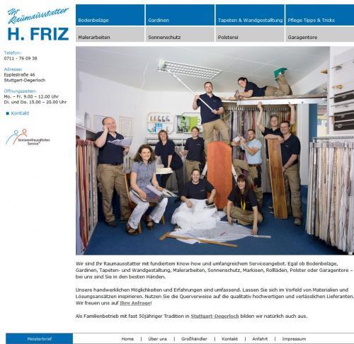 Firmenprofil von: Raumausstatter H. Friz in Stuttgart