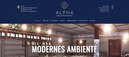 Firmenprofil von: Hotelunterkunft gesucht? ALPHA restaurant & fremdenzimmer in Fürth